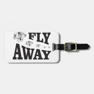 fly away horses luggage tag