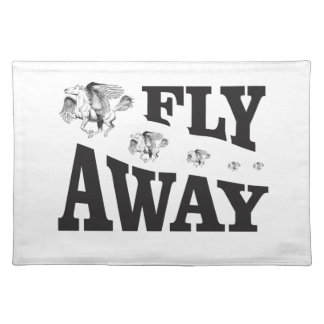 fly away horses placemat