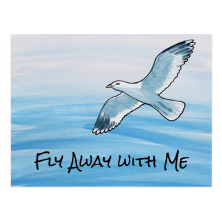 Fly Away with Me Postcard
