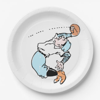 Fly Ball Paper Plate