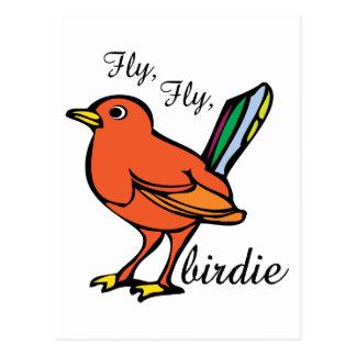 Fly Birdie Postcard