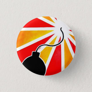 fly bomb 1 inch round button