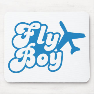 FLY BOY with aeroplane jet Mouse Pad