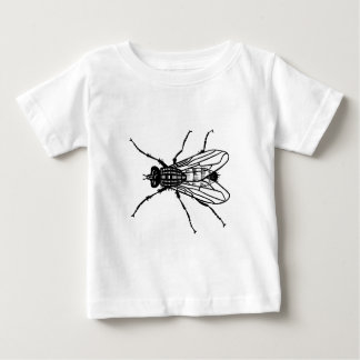 Fly drawing - insect, pest, flies baby T-Shirt