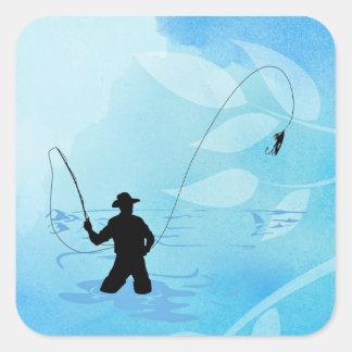 Fly Fisherman Fishing Stickers