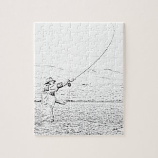 fly fisherman jigsaw puzzle