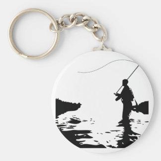 Fly Fisherman Keychain
