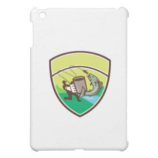 Fly Fisherman Mug Salmon Crest Retro iPad Mini Cover