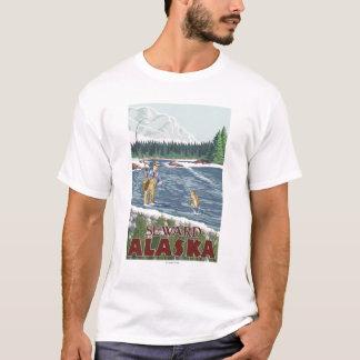 Fly Fisherman - Seward, Alaska T-Shirt