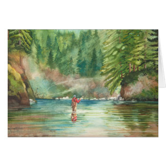 Fly Fishing 70th Birthday Day Card