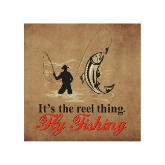 "Fly Fishing 8""x8"" Wood Wall Art"