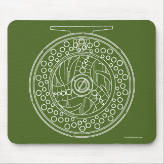Fly Fishing Art of a Fly Rod's Reel Mouse Pad