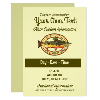 Fly Fishing Catch Release Party Card