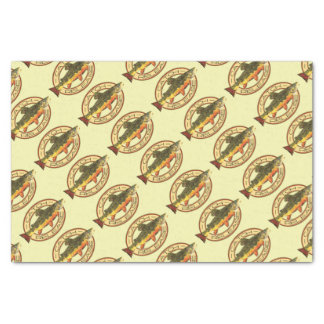 Fly Fishing Catch Release Party Tissue Paper