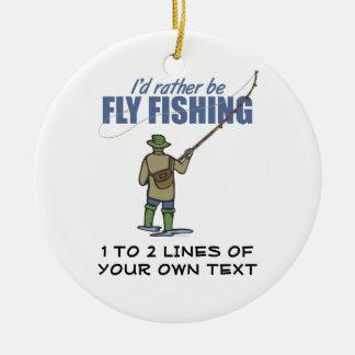 Fly Fishing Ceramic Ornament
