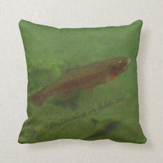 Fly Fishing Colorful Rainbow trout blues Throw Pillow
