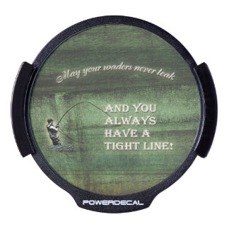 Fly fishing dark texture waders tight line LED window decal