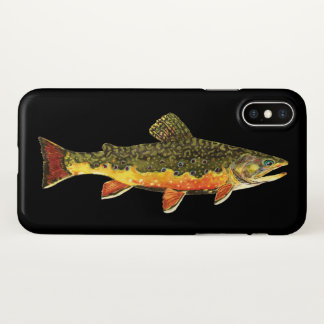 Fly Fishing for the Beautiful Brook Trout iPhone X Case
