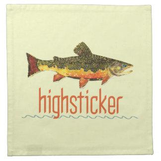 Fly Fishing Highsticker Cloth Napkin