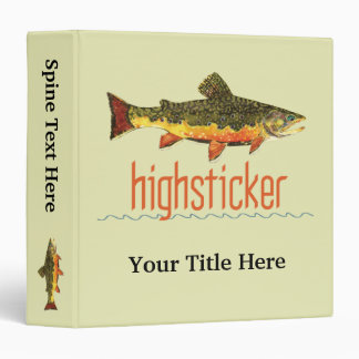 Fly Fishing Highsticker Vinyl Binders