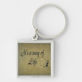 Fly fishing - It's a Way of Life Love Flyfishing Keychain