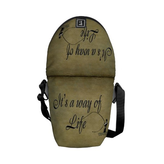 Fly-fishing - It's a Way of Life Messenger Bag