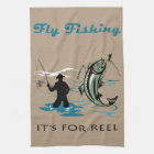 Fly Fishing Kitchen Towel