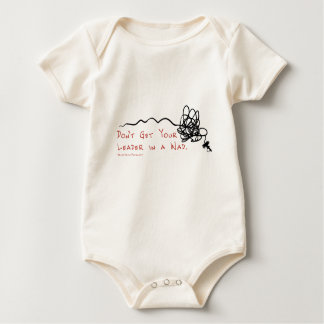 Fly Fishing Leader Baby Bodysuit