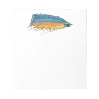 Fly Fishing Lure Art Notepad