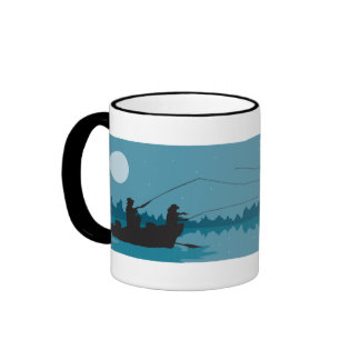 Fly Fishing Ringer Coffee Mug