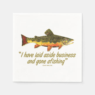 Fly Fishing Paper Napkin