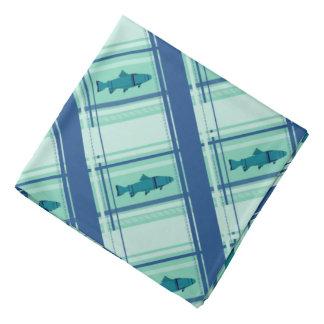 Fly Fishing Rods Pattern Bandana