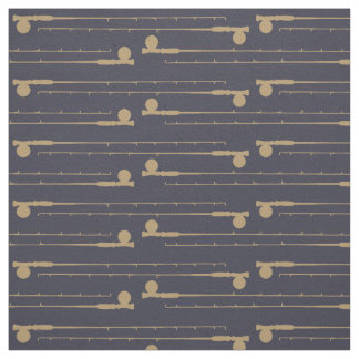 Fly Fishing Rods Pattern Fabric