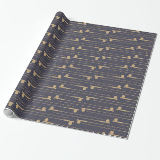 Fly Fishing Rods Pattern Wrapping Paper