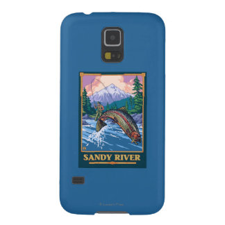 Fly Fishing Scene - Sandy River, Oregon Galaxy S5 Covers