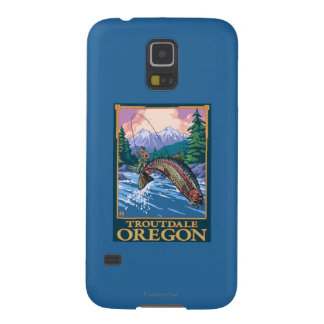 Fly Fishing Scene - Troutdale, Oregon Galaxy S5 Cover