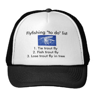 "Fly-fishing ""to do"" list ""Wet Fly"" Blue Trucker Hat"