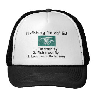 "Fly-fishing ""to do"" list ""Wet Fly Green"" Trucker Hat"