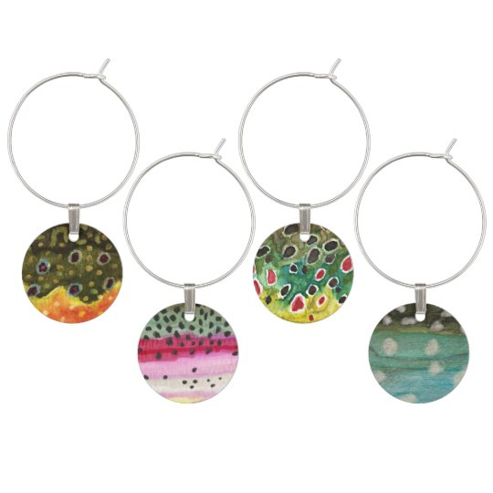 Fly Fishing Wine Glass Charms