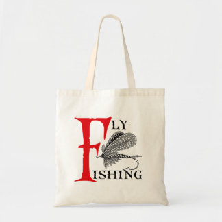 Fly Fishing With Fishing Lure Tote Bag
