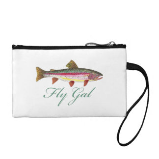 Fly Fishing Woman Coin Wallet