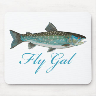 Fly Fishing Woman Mouse Pad