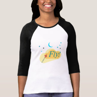 Fly flight to the stars. Dream of flying vacation T-Shirt