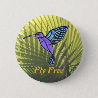 Fly Free 2 Inch Round Button