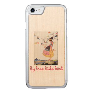 Fly free little bird carved iPhone 7 case