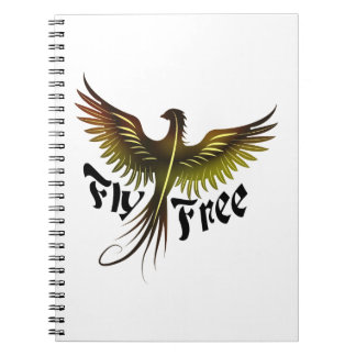 Fly Free Spiral Note Book