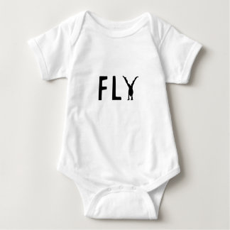 Fly funny text and human design baby bodysuit