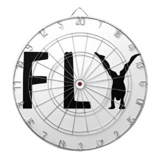Fly funny text and human design dartboard