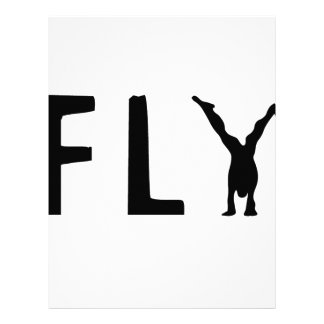 Fly funny text and human design letterhead