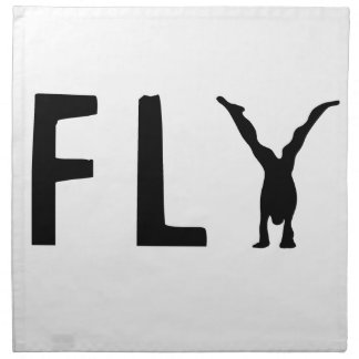 Fly funny text and human design napkin